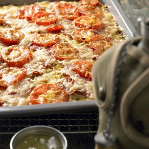 Essen kochen für viele: Kartoffelpizza