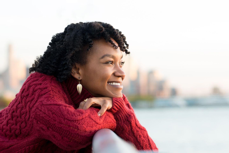 Psychologie: Eine fröhliche Frau