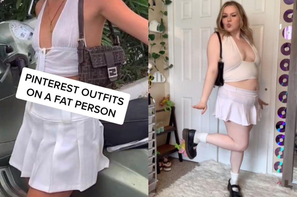 Pinterest-Outfits nachgestylt