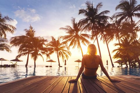 Frau im Urlaub