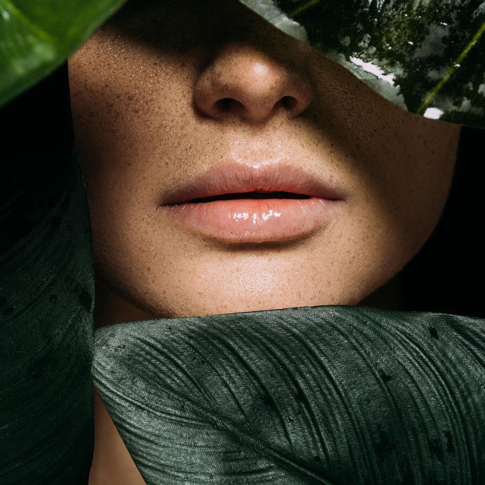 Green Beauty: Lippen eines Models