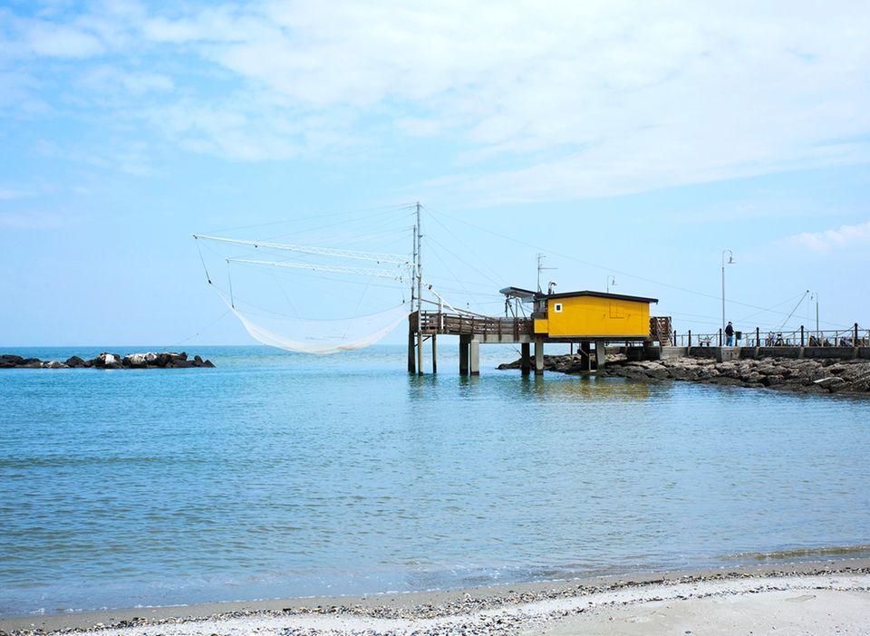 Von Venedig bis Florenz: Fischerhütten und Meer