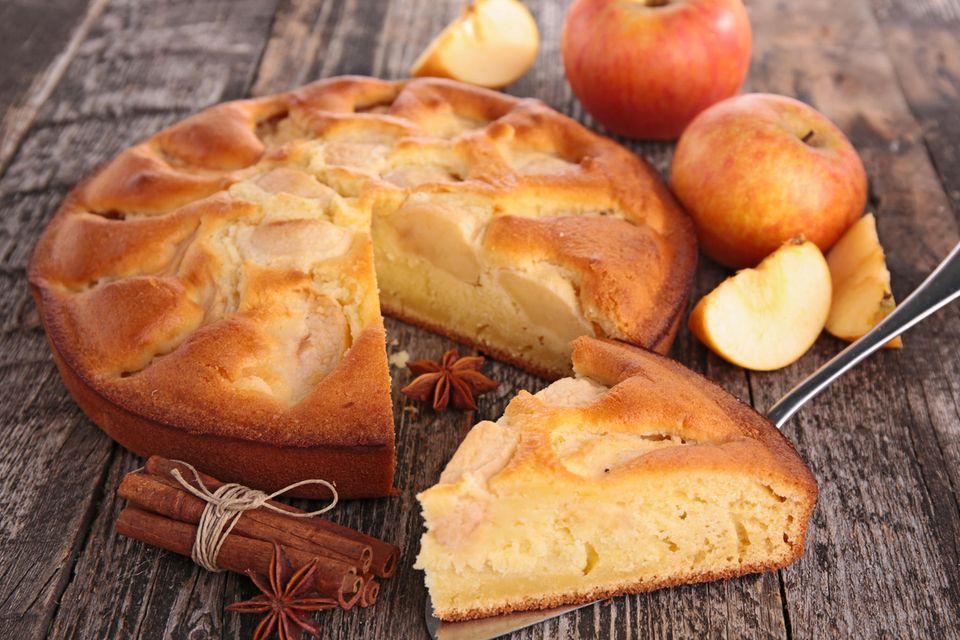 Apfelkuchen ohne Zucker