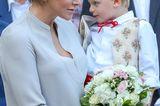 Royale Mütter: Fürstin Charléne von Monaco mit Sohn Jacques