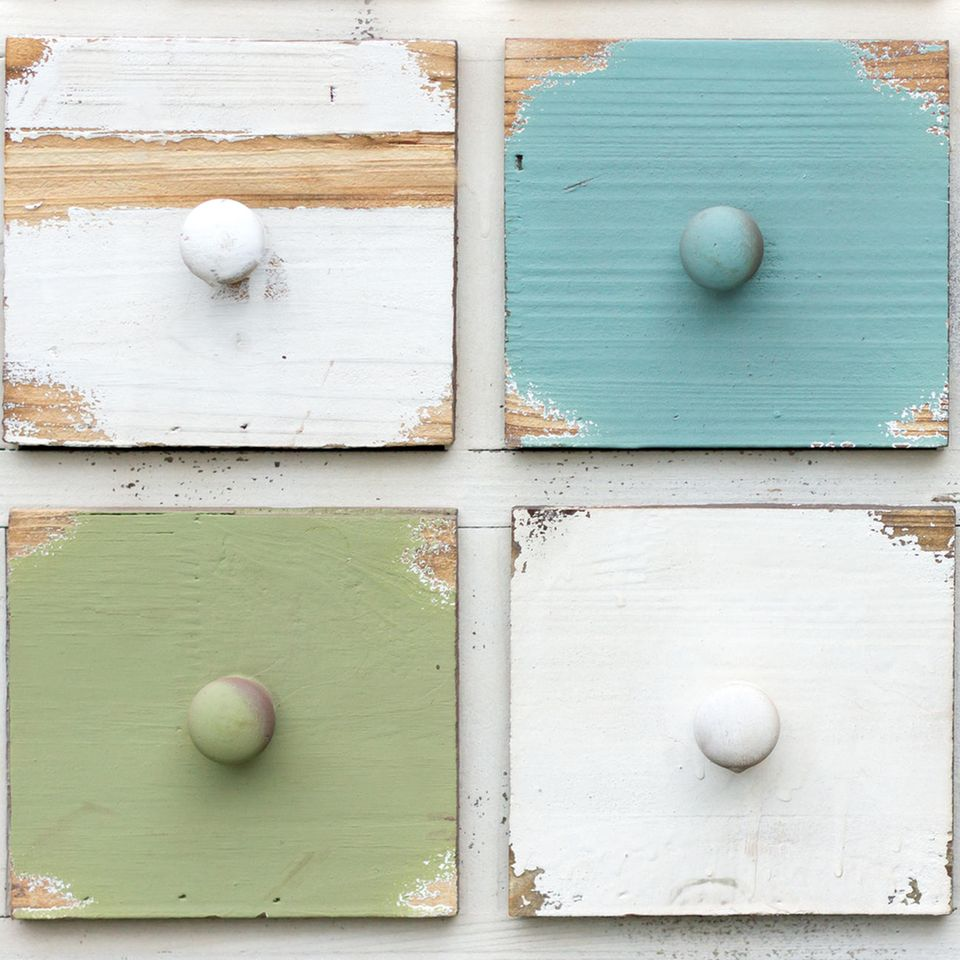 Kreidefarbe selber machen: Kreidefarbe auf Holz
