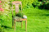 Upcycling Ideen Garten: Stuhl als Blumenkübel