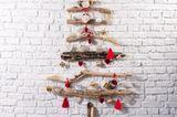Basteln mit Treibholz: Weihnachtsbaum