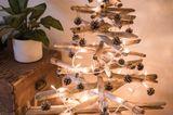 Basteln mit Treibholz: Weihnachtstanne aus Treibholz