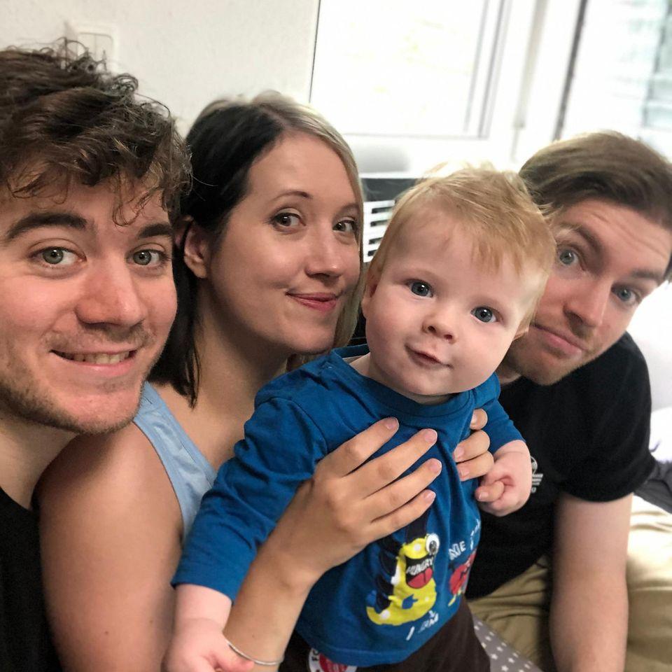 Polygame Eltern: Nicole, Christian und Fabian