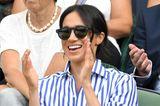 Meghan trägt gerne dieses mattschwarze Modell, so wie hier beim Wimbledon-Finale 2018.
