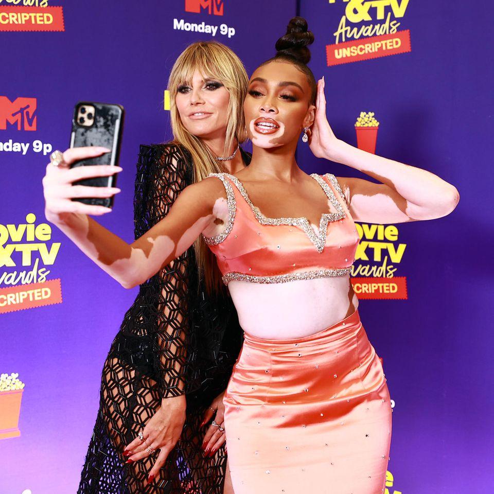 Heidi Klum und Winnie Harlow bei den MTV Movie & TV Awards: UNSCRIPTED