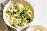 Kartoffel-Endivien-Stampf mit wachsweichem Ei