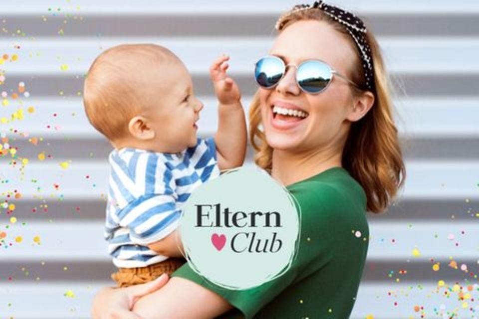 Eltern Club: Frau mit Kind auf dem Arm