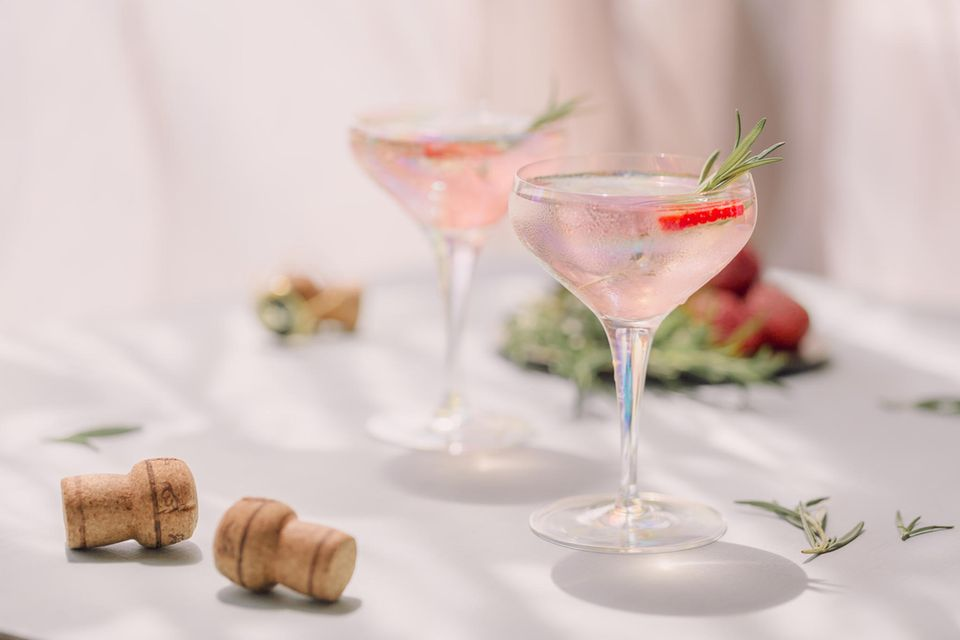 Weincocktails: Erdbeere