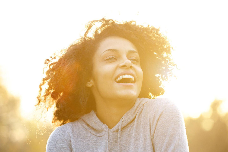 Psychologie: Glückliche Frau