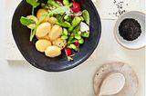 Miso-Kartoffeln mit grünem Spargel
