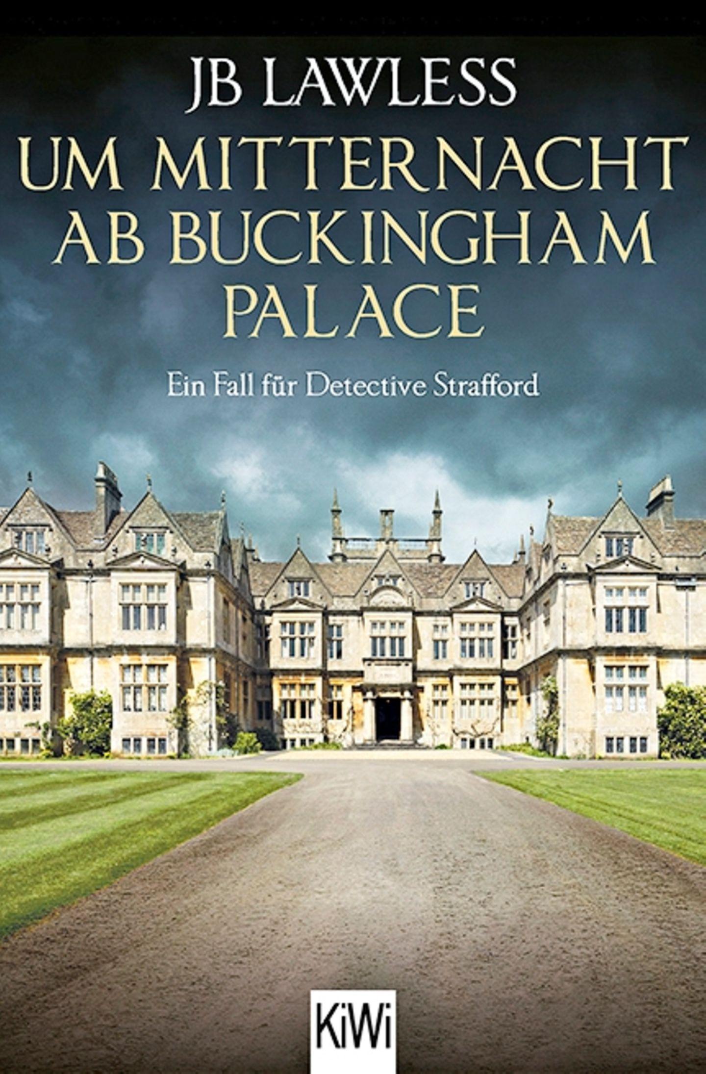"""Buchtipps der Redaktion: Buchcover """"Um Mitternacht ab Buckingham Palace: Ein Fall für Detective Strafford"""""""