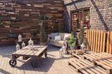 Terrassen-Deko selber machen: Palettentisch