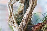 Terrassen-Deko selber machen: Herz aus Treibholz