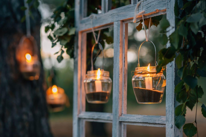 Terrassen-Deko selber machen: Kerzenhalter