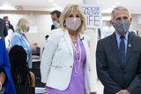 Jill Biden besucht ein Impfzentrum in New York.