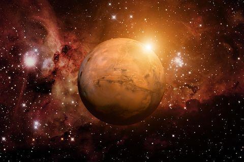 Horoskop: Planet Mars in unserer Galaxie
