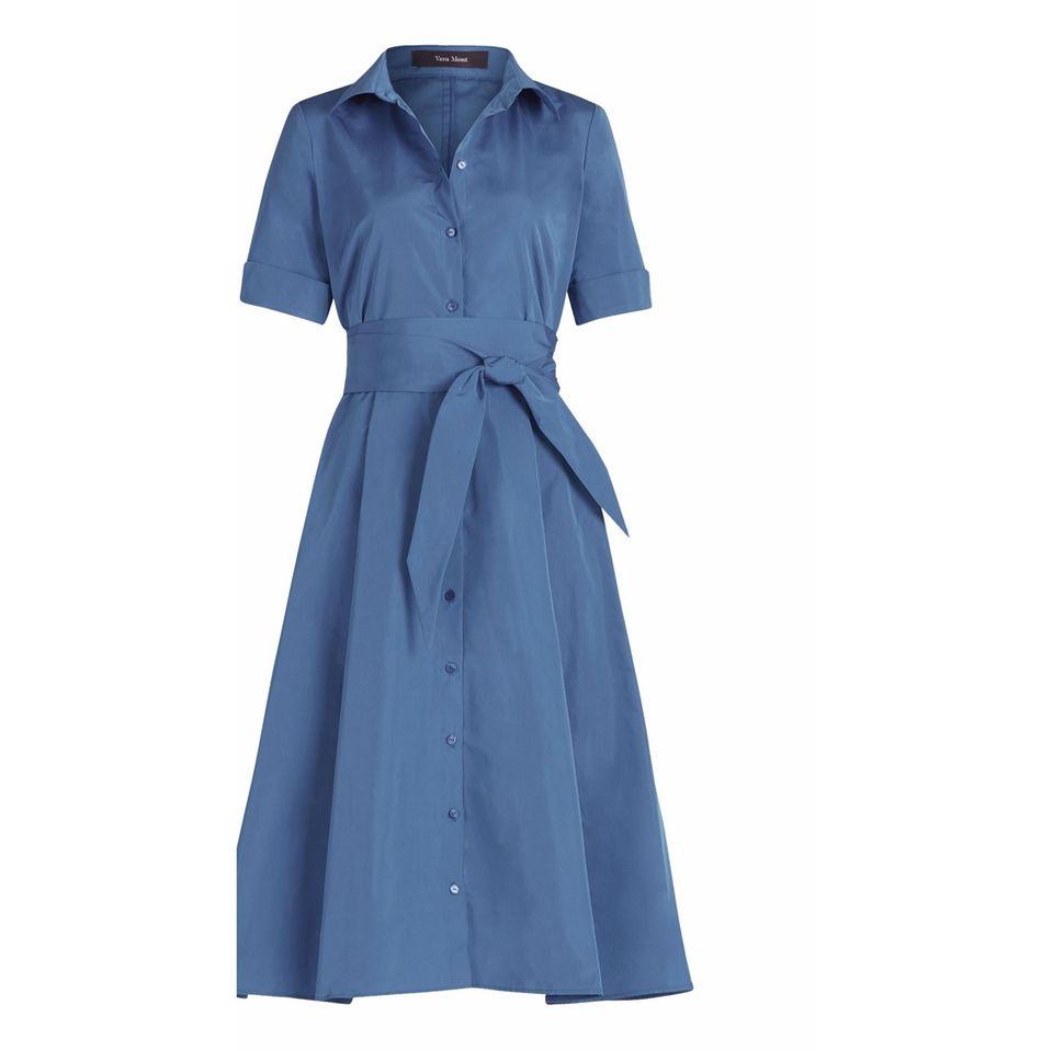 40er Jahre Mode: Hemdblusenkleid