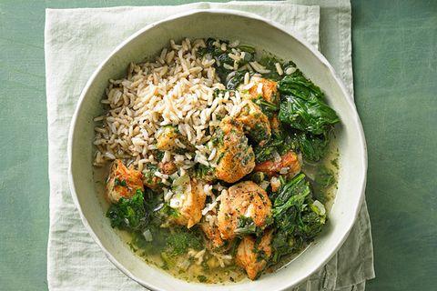Fisch-Curry mit Spinat