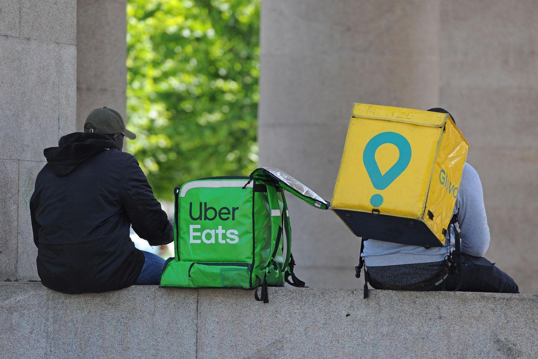 Uber eats: Zwei Essens-Lieferanten