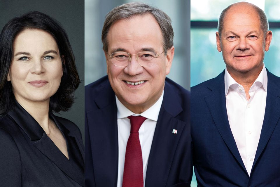 Annalena Baerbock, Armin Laschet, Olaf Scholz