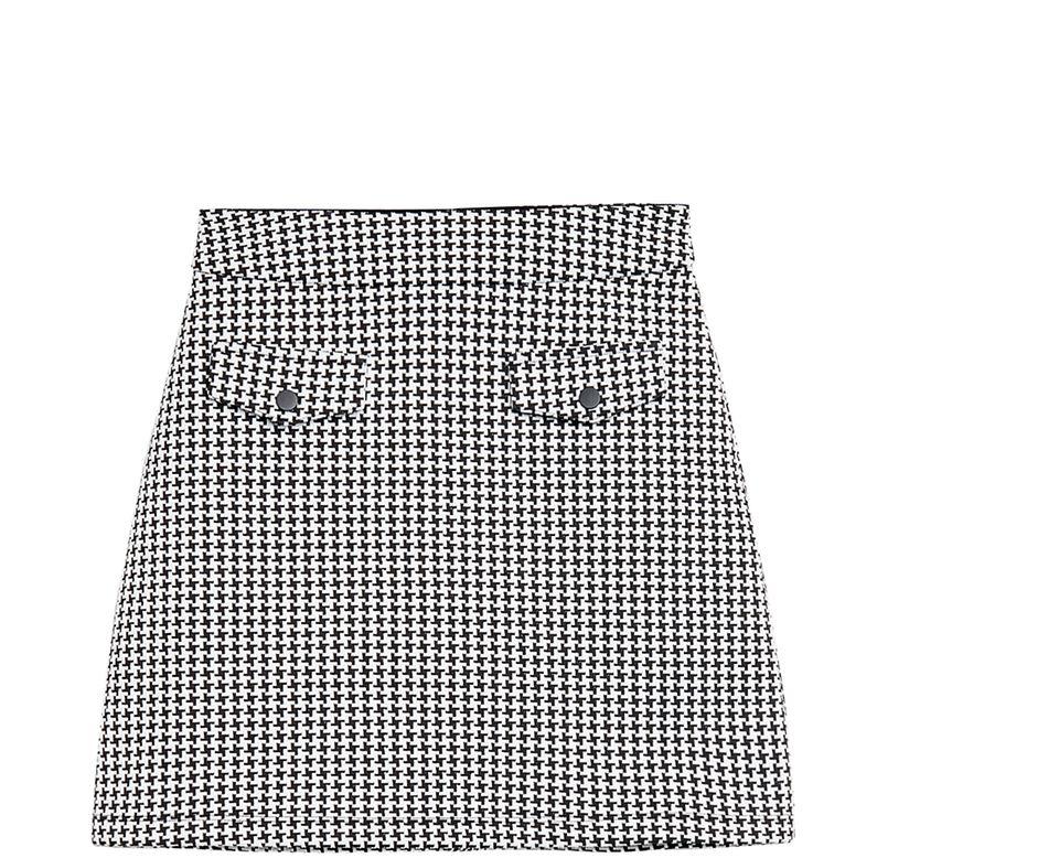 40er Jahre Mode: Minirock mit Hahnentrittmuster