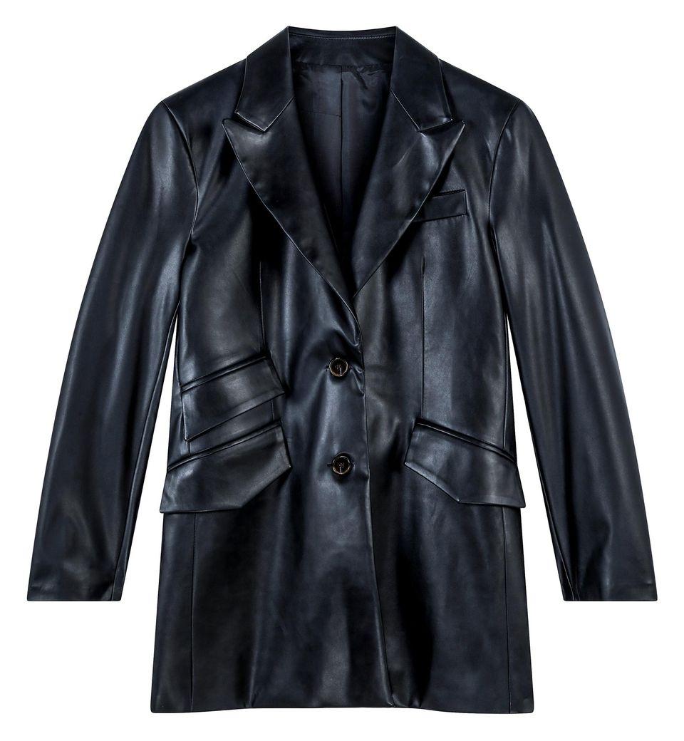 40er Jahre Mode: Blazer in Lederoptik