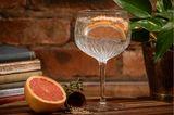 Gartenparty: Kelch mit Gin Tonic