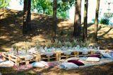 Gartenparty: Kräuter auf Paletten, Sitzkissen