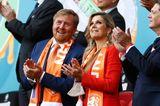 Willem-Alexander und Maxima besuchen ein EM-Spiel in Amsterdam