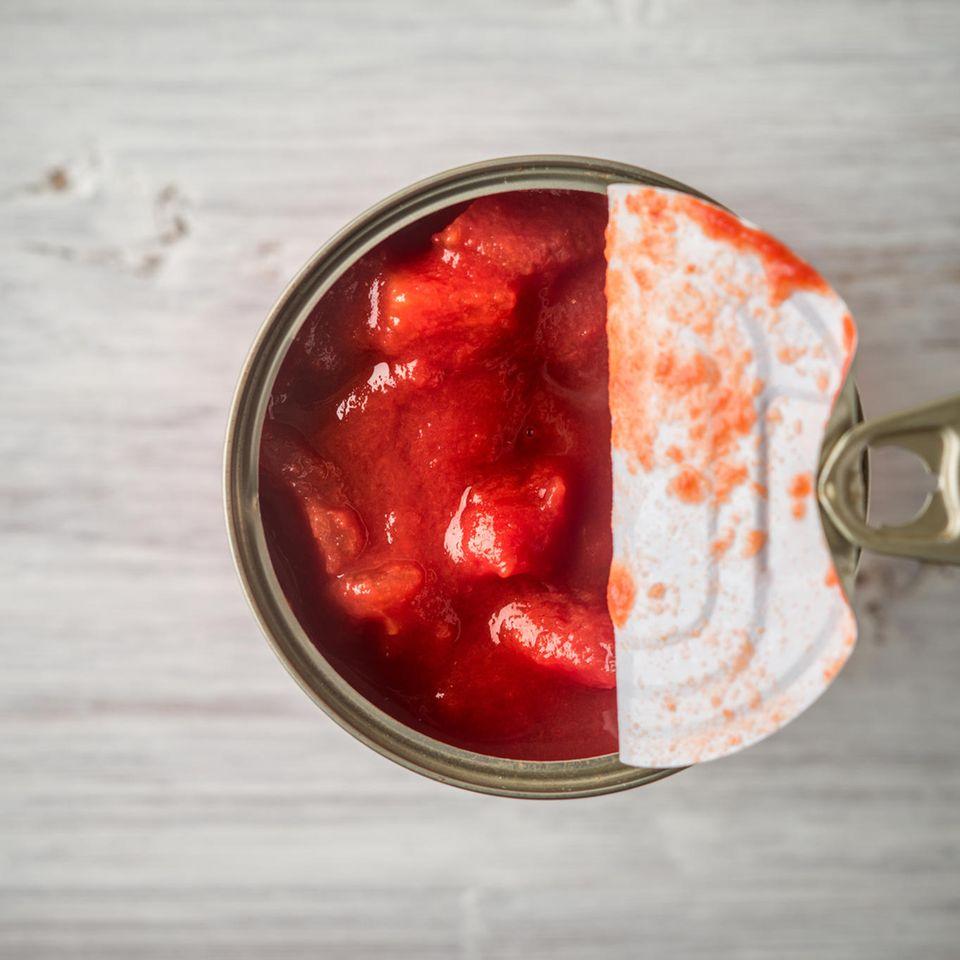 Rückruf: Tomaten in der Dose