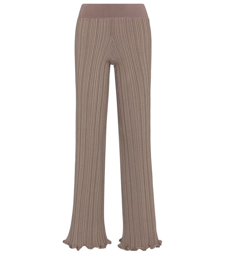 Laue Sommerabende: Hose in taupe