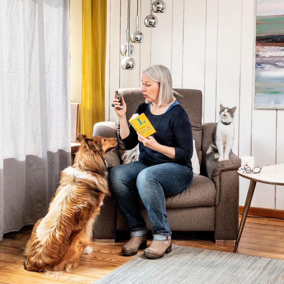 Tierkommunikation: Gitta mit Leica und Lissi