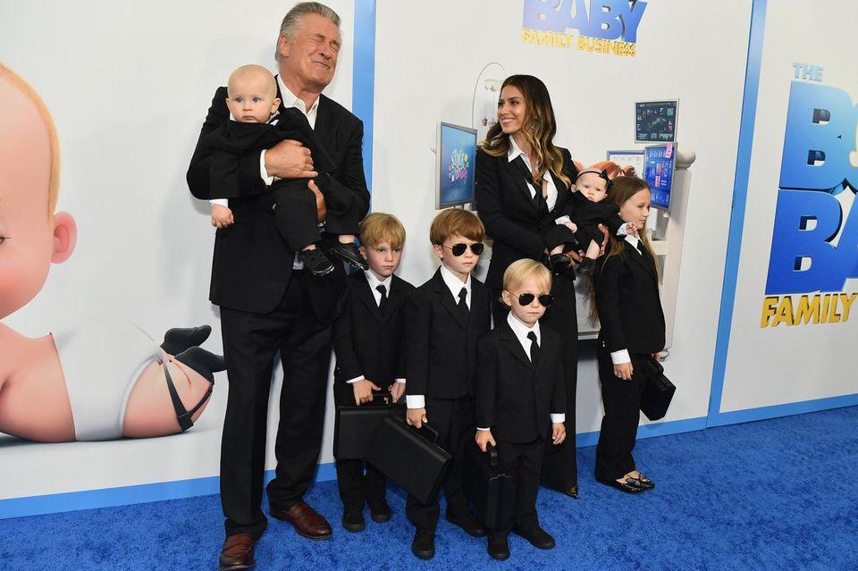Promikinder: Alec Baldwin mit Familie