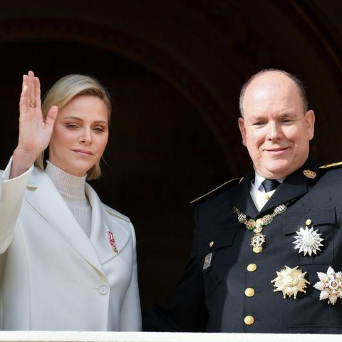 Fürstin Charlene + Fürst Albert II