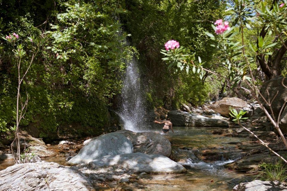 Euböa: Wasserfall