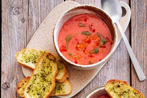 Vegane Melonen-Gazpacho