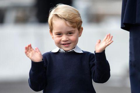 Prinz George zuckt mit den Schultern