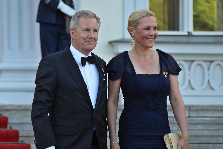 Christian + Bettina Wulff: Strahlender Auftritt im Schloss Bellevue: Christian und Bettina Wulff