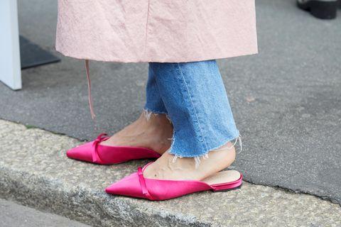 Schuhtrends 2021: Slip-Shoe in pink