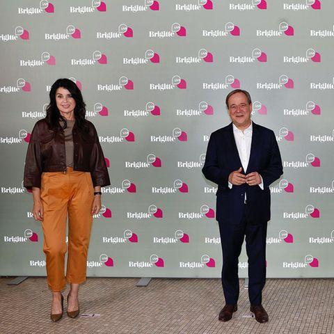 Brigitte Huber, Armin Laschet und Meike Dinklage in Berlin