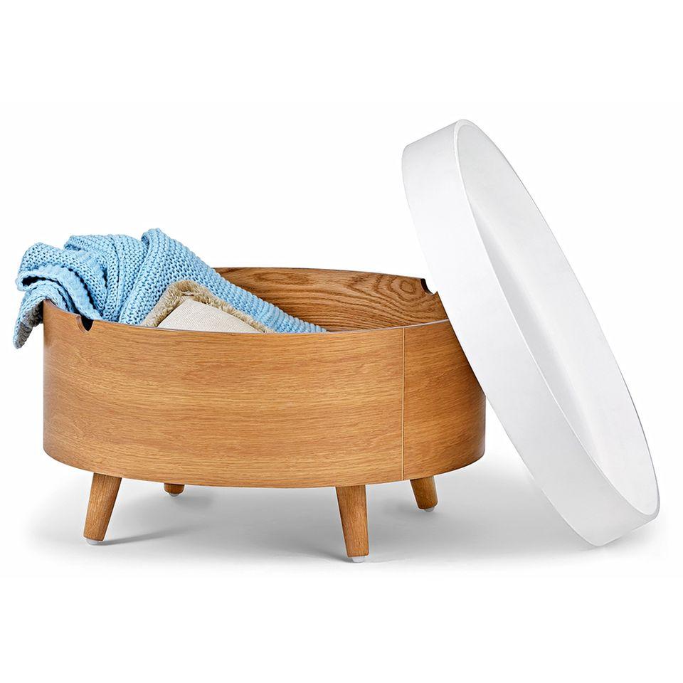 schlafzimmer einrichten: Tisch mit Stauraum