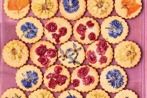 Blütenkekse