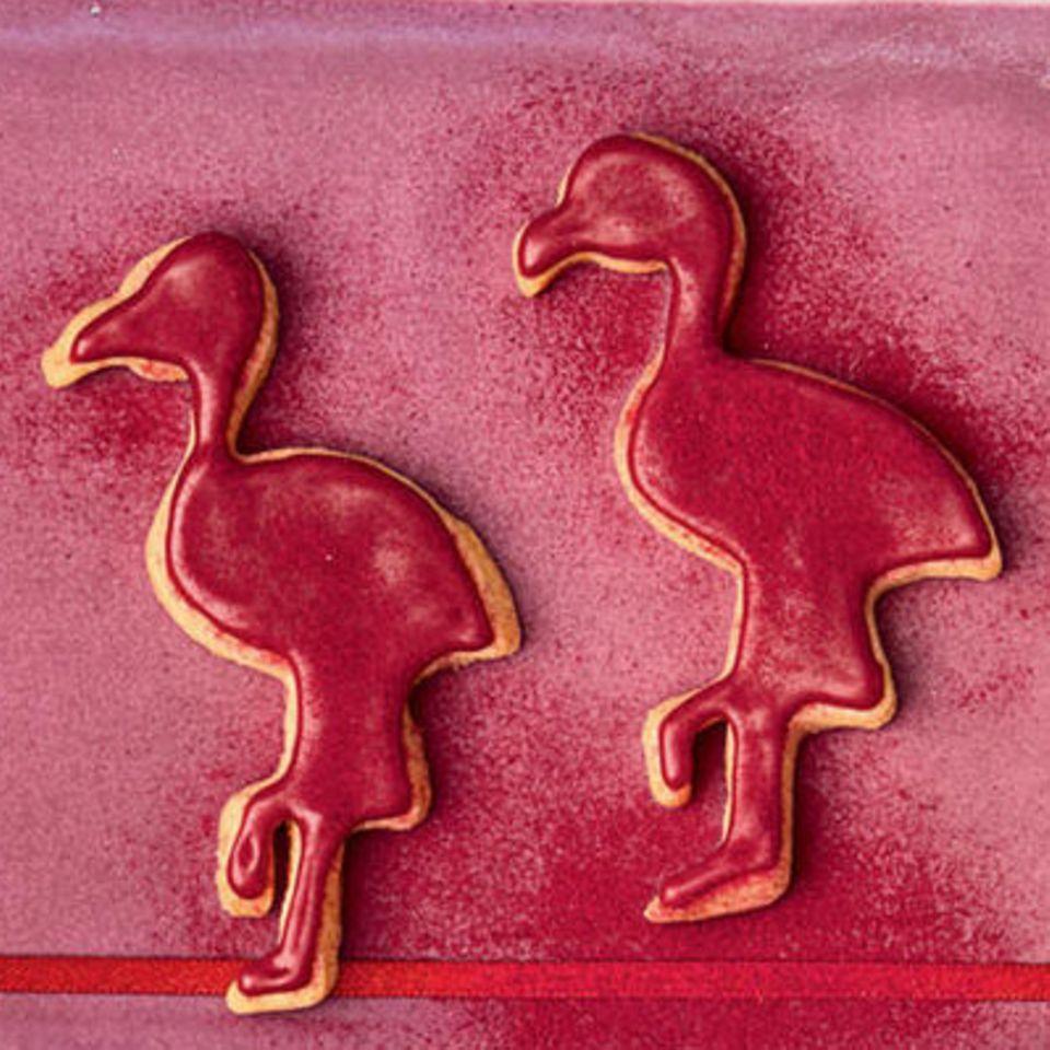 Flamingo-Plätzchen
