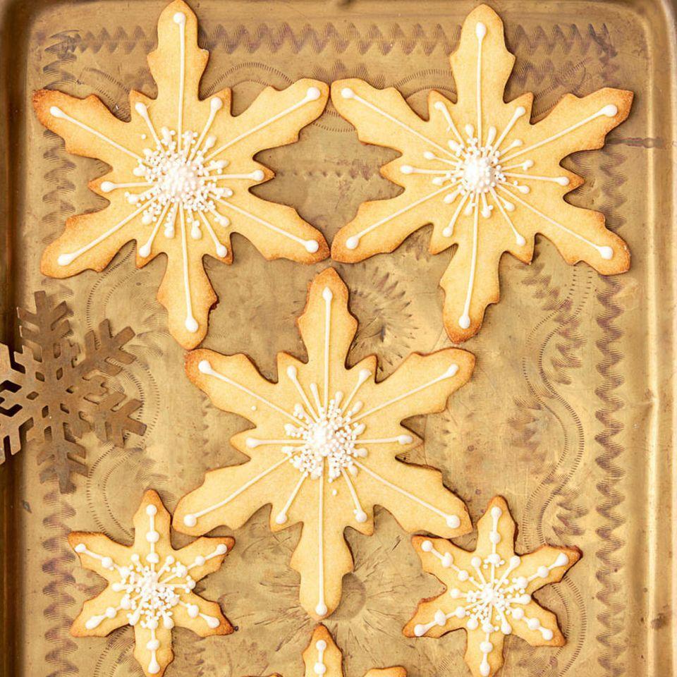 Marzipan-Schneeflocken